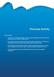 Pancreas Activity - Organ Donation
