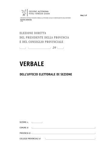 Modello del verbale dell'Ufficio elettorale di sezione - Sistema delle ...