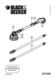GPC900 - Service - Black and Decker