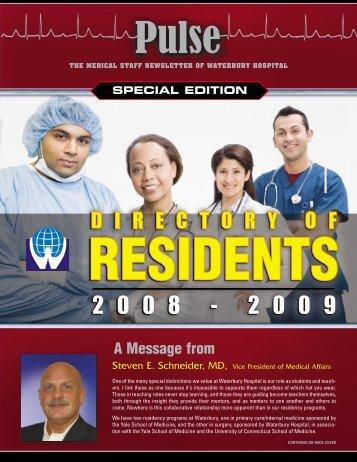 Residents Directory 2008 - Waterbury Hospital