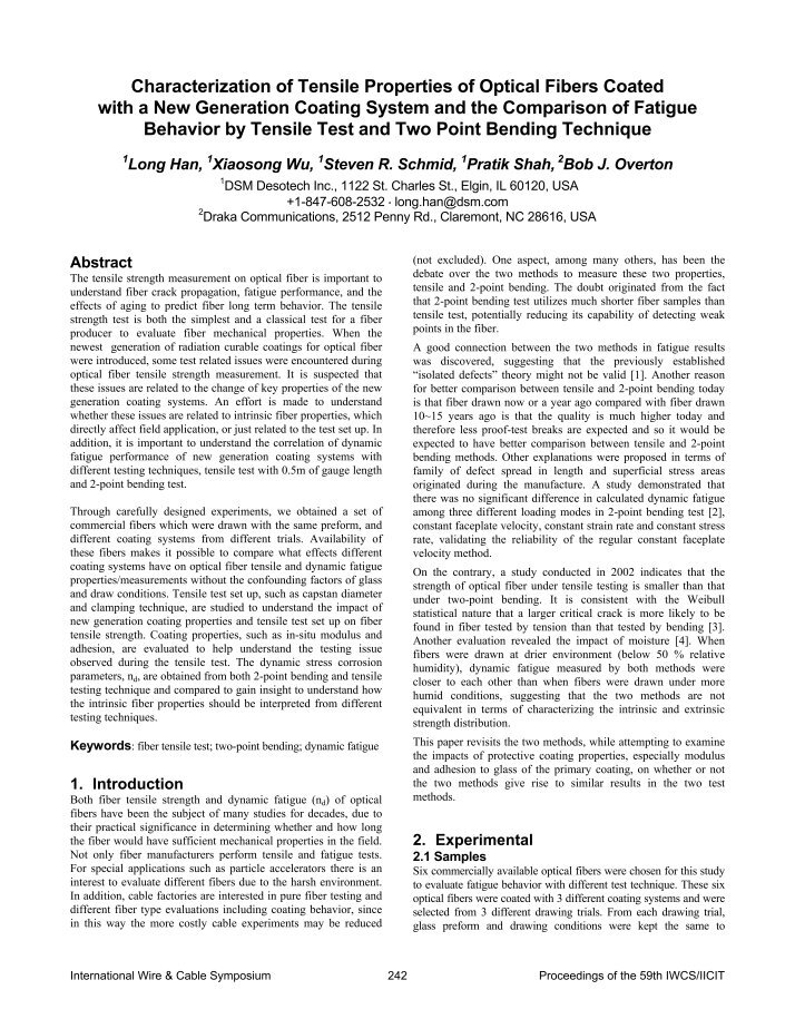 an introduction to the measurement of tensile properties An improved test procedure for measurement of dynamic tensile mechanical properties of automotive sheet steels p k c wood, c a schley iarc, university of warwick, coventry, england.