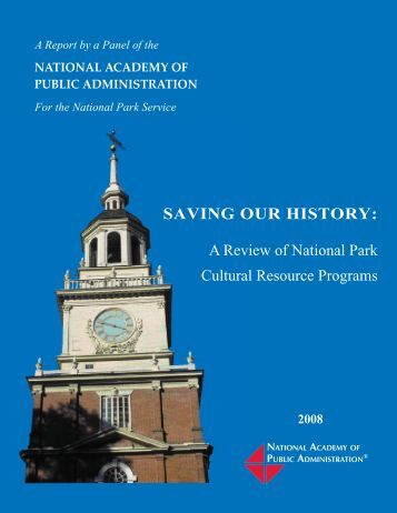 A Report by a Panel of the - National Academy of Public Administration
