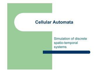 Cellular Automata Slides - Natural Computing Group, LIACS, Leiden ...