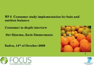 Consumer in-depth interview - Focus-Balkans
