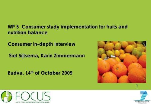 Consumer in-depth interview - Focus-Balkans