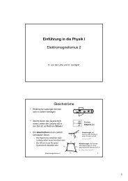 Einführung in die Physik I Elektromagnetismus 2 Gleichströme