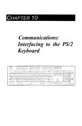 Communications: Interfacing to the PS/2 Keyboard