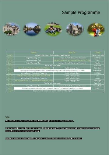 Sample Programme