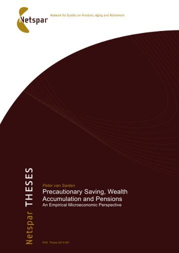 Precautionary Saving, Wealth Accumulation and Pensions