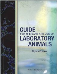Guide for the Care and Use of Laboratory Animals - Office of ...