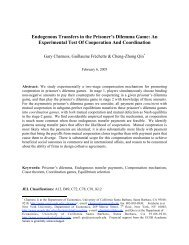 Endogenous Transfers in the Prisoner's Dilemma Game - UCSB ...