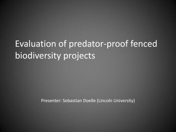Evaluation of predator-proof fenced biodiversity projects - Australian ...