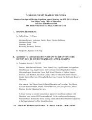 SAN DIEGO COUNTY BOARD OF EDUCATION Minutes of the ...