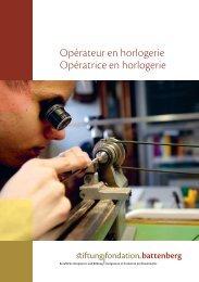 Opérateur en horlogerie Opératrice en horlogerie - Stiftung ...