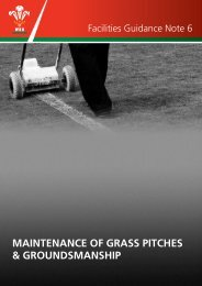 MAINTENANCE OF GRASS PITCHES & GROUNDSMANSHIP