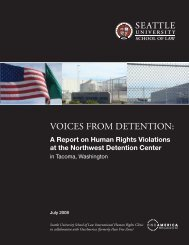 Voices from Detention: A Report on Human Rights ... - OneAmerica