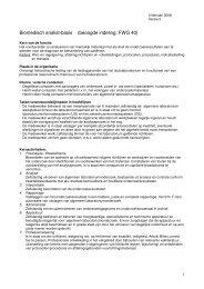 Biomedisch analist-basis (beoogde indeling: FWG 40)