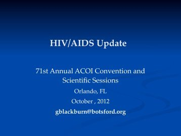 HIV/AIDS Update