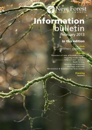 Information Bulletin - February 2013 - New Forest District Council