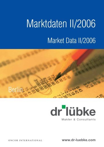 Marktdaten II/2006 - Dr. Lübke GmbH