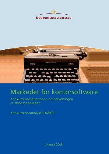 """""""Markedet for kontorsoftware"""" (pdf)"""