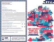 Flyer des cours publics 2011-2012 - Cité de l'architecture & du ...