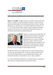 Besitzerwechsel bei der GSBA Graduate School of ... - WiWi-Online