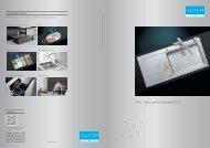 Éviers: Aperçu général des produits 2012 - Suter Inox AG
