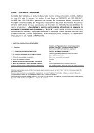 Anunt - procedura competitiva Fundatia Dan Setlacec, cu sediul in ...