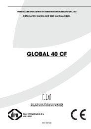 Gebruiks en installatiehandleiding Dru Global 40 CF - UwKachel