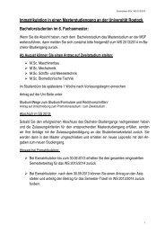 Informationen zum Masterstudium ab WS 2013/14