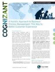A Holistic Approach to Business Process Management ... - Cognizant