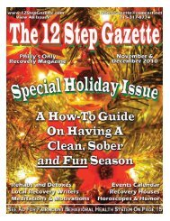 November/December 2010 - 12 Step Gazette