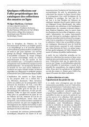 Quelques réflexions sur l'effet propédeutique des ... - DH2010