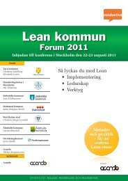 Lean kommunforum 2011 - Conductive