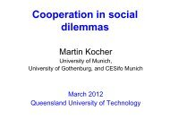 Cooperation in social dilemmas