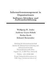 Informationsmanagement in Organisationen Software-Metriken und ...