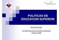 politicas de educacion superior - Consejo Nacional de Educación