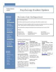 Psychology Student Update - UCI Cognitive Sciences - University of ...