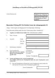 Anmeldung zur Besonderen Prüfung gemäß § 75 Abs - Gymnasium ...