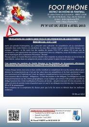 PV N°137 DU JEUDI 4 AVRIL 2013