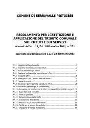Regolamento TARES - Comune di Serravalle Pistoiese