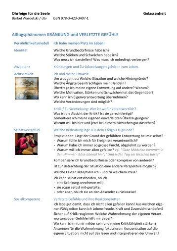Ohrfeige für die Seele Bärbel Wardetzki - ISBN ... - schreibzirkel.ch