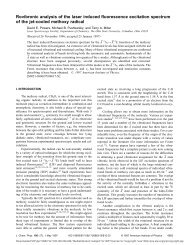 Rovibronic analysis of the laser induced fluorescence excitation ...