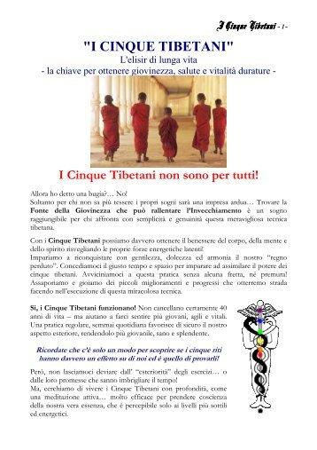 dispensa i cinque tibetani