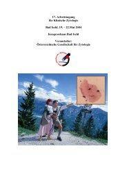 17. Arbeitstagung für Klinische Zytologie Bad Ischl, 19. – 22.Mai ...