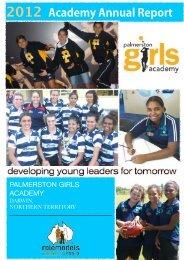 Palmerston Annual Report 2012 - Palmerston Girls Academy