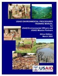 USAID Environmental Procedures Training Manual - USAID: Africa ...