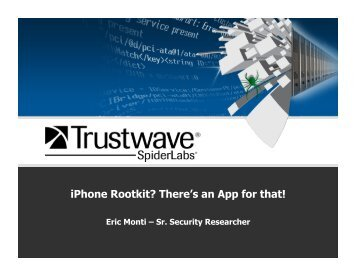 iPhone Rootkit? There's an App for that! - Reverse Engineering Mac ...