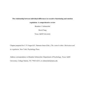 The relationship between individual differences in executive ...